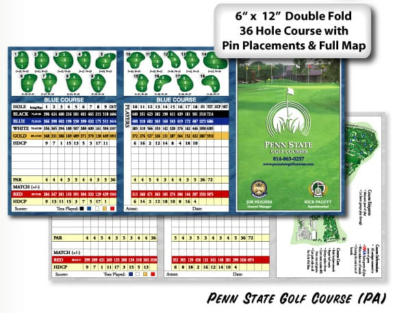scorecards unlimited custom scorecards, yardage cards